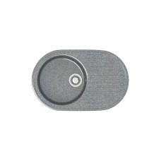 Мойка глянцевая Наоми L11G35  720х455х185мм Тем.серый в комплекте сифон, герметик,фреза. VERBA