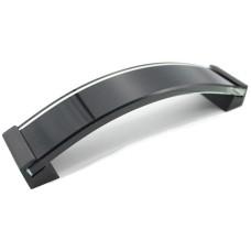 """Ручка """"ROSES""""-Черное стекло 8мм+ножка хром UZ-ROS160-20 GTV"""