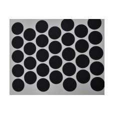 2510 Черная заглушка для эксцентрика самоклейка