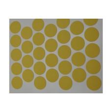 2530 Желтая заглушка для эксцентрика самоклейка